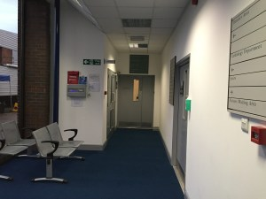 Hospital corridor and waiting areas and West London Film Studios