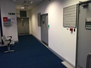 corridor and waiting area