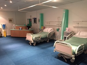 Hospital ward and accessories for NHS hospital film location