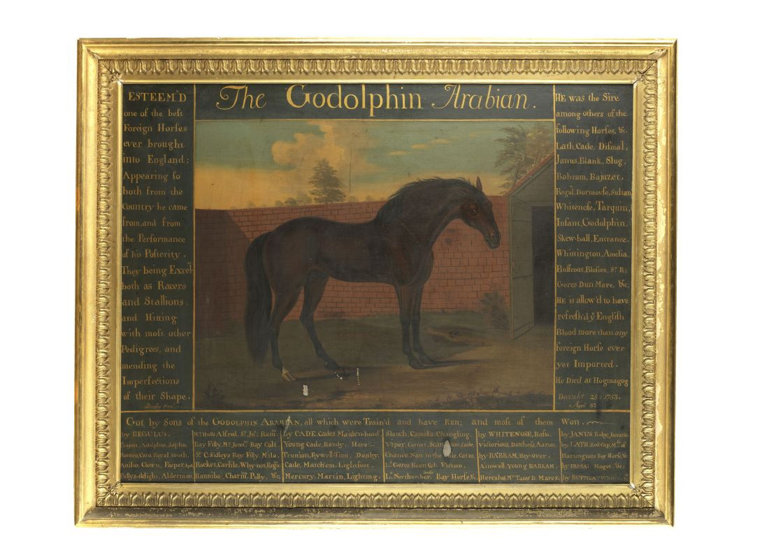 A circa 1793-1794 oil on canvas painting of the Godolphin Arabian, estimated at £15,000 to £20,000, which equates to $18,000 to $24,000.