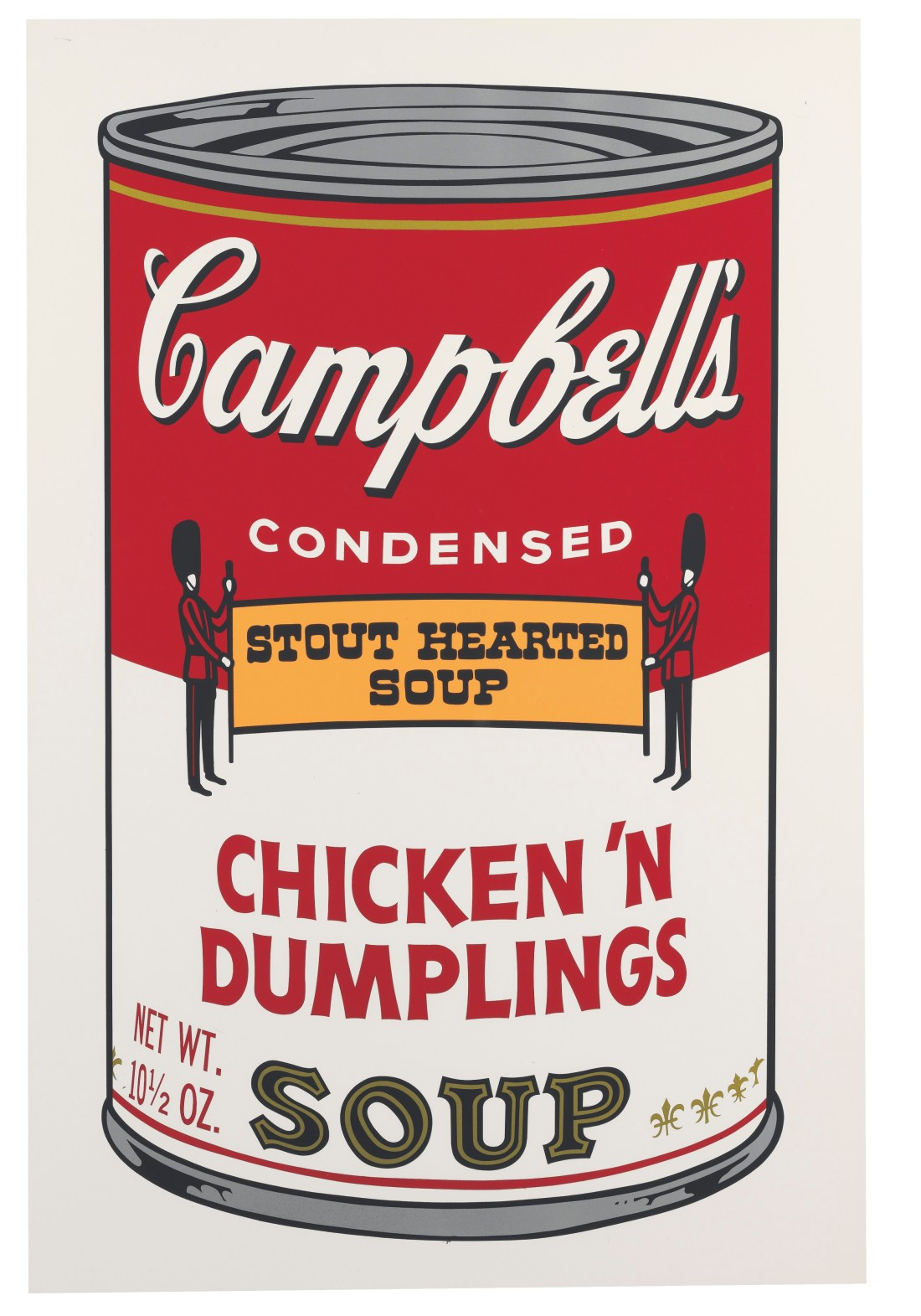 A screenprint from Campbell's Soup II, a limited edition series of 250 that Andy Warhol created in 1969. Warhol also made 26 artist's proofs--sets reserved for his own use--and marked each with a letter.