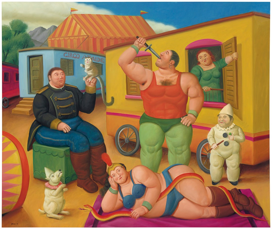 Circus People, a 2007 painting by Fernando Botero.