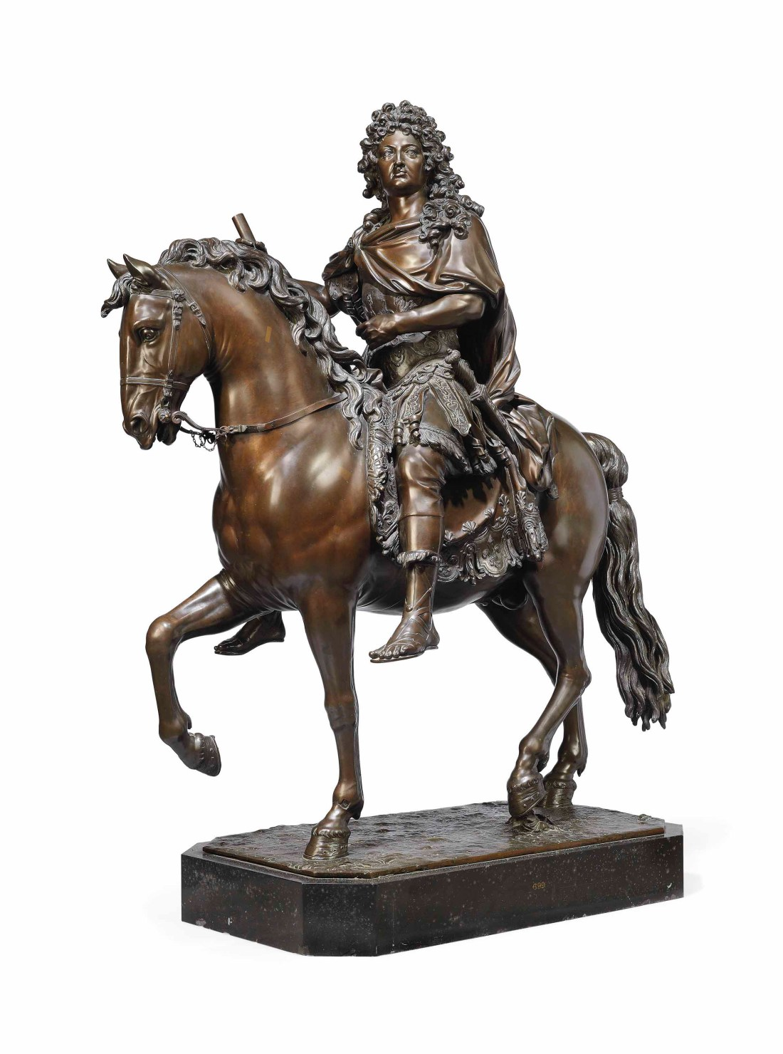 A bronze group of Louis XIV on horseback, created between 1690 and 1699 by François Girardon. Christie's estimates it at £7 million to £10 million ($9.1 million to $13.1 million).