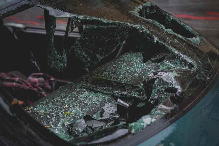 drunk drivers, crashed windshield
