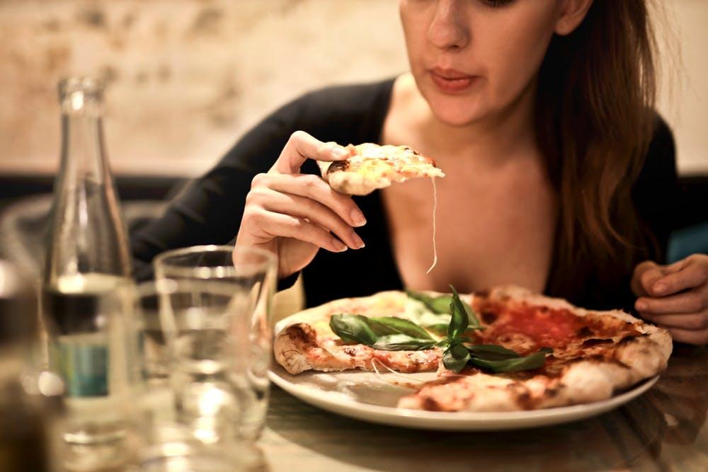 keto diet, woman eating