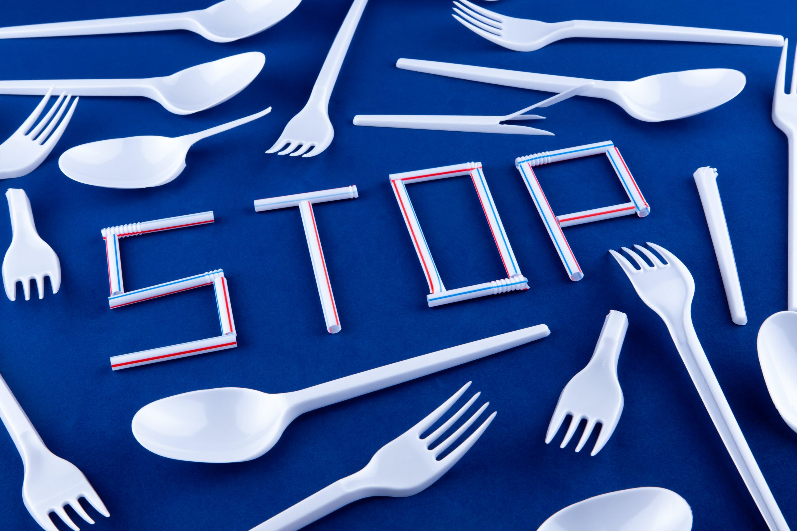 Plastic pollution, take-out cutlery