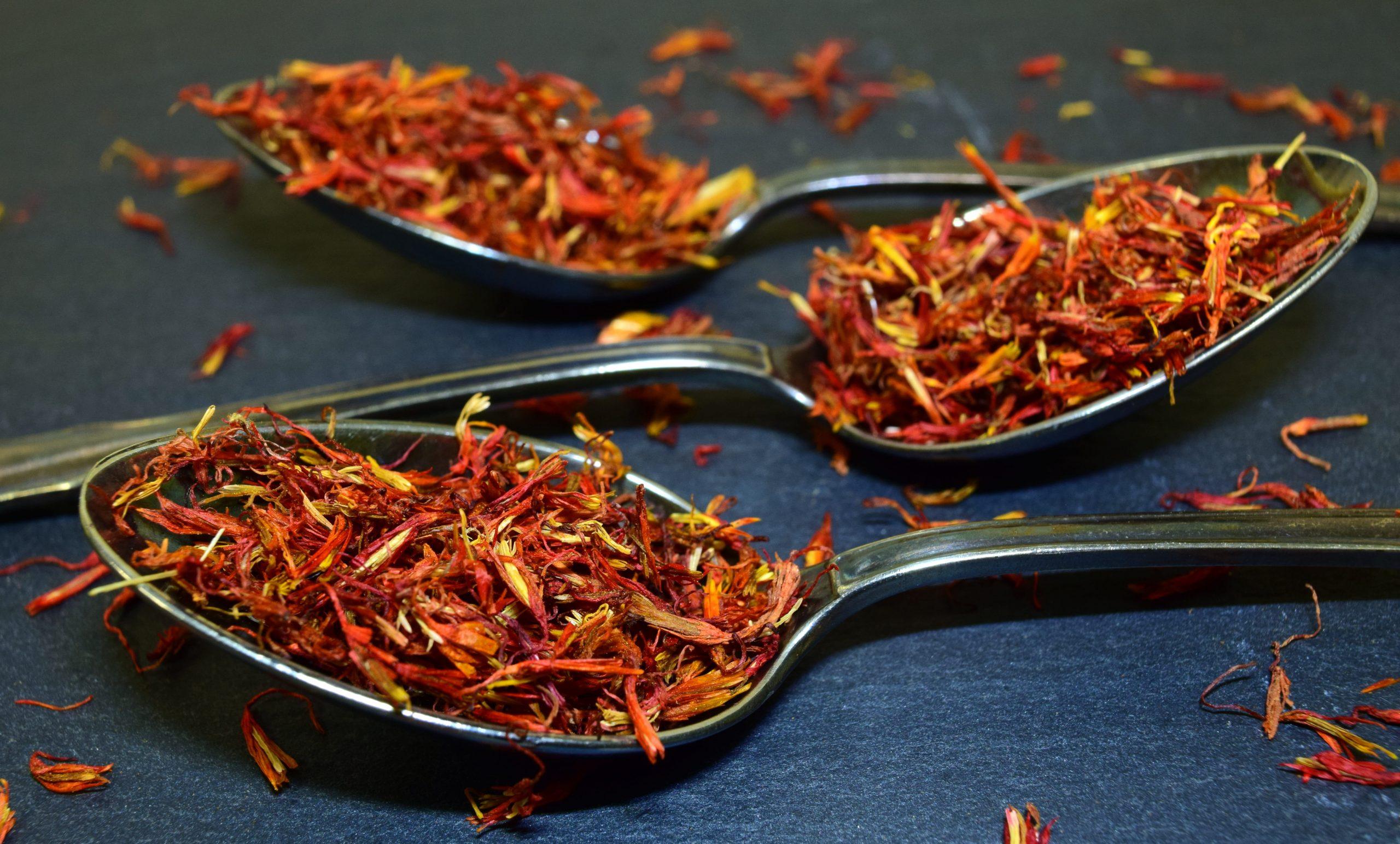Spoons, saffron