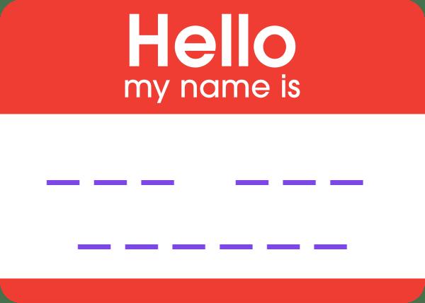 Names, tag