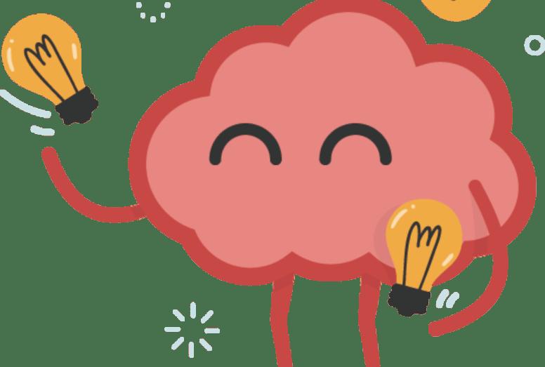 Brain, light bulbs