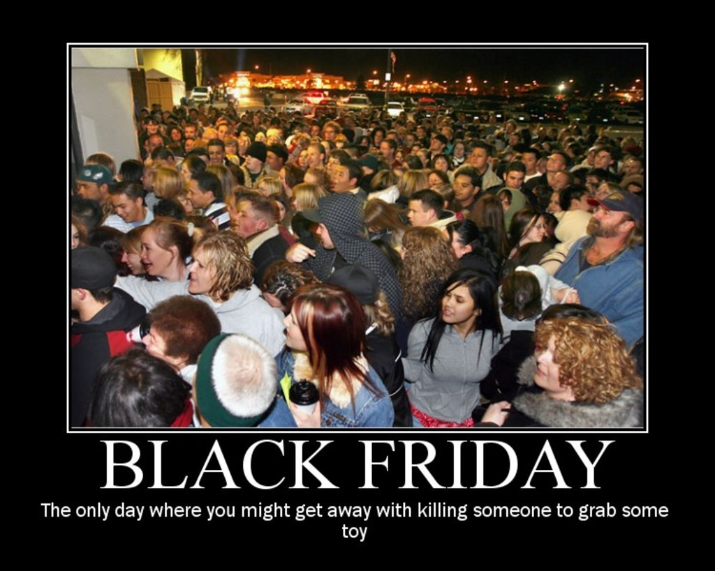 Black Friday crowd