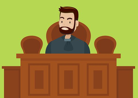 cartoon drawing of man on witness stand