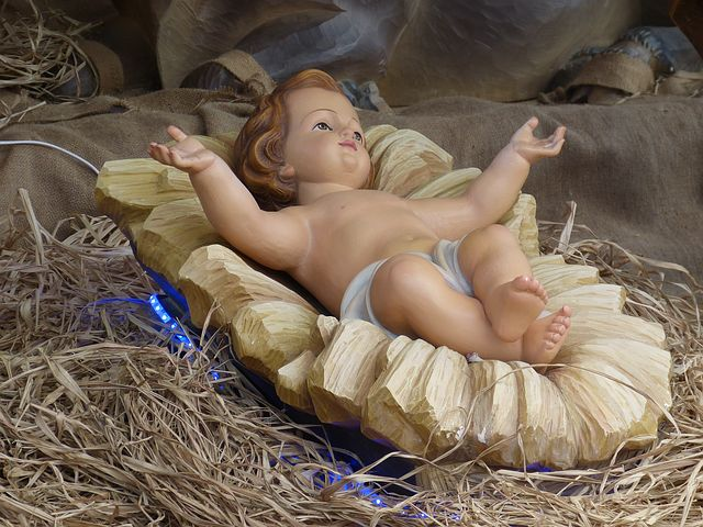 Christmas traditions, infant Jesus figurine