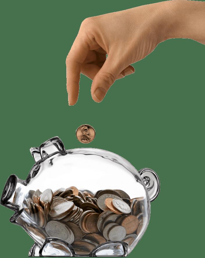 Saving piggy bank -- The Hot Mess Press
