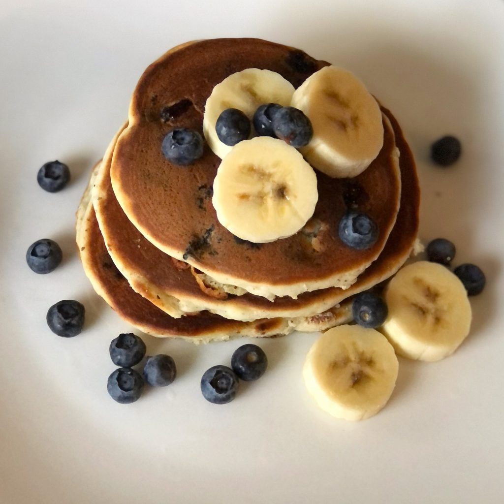 Evolving Vegan loaded pancakes