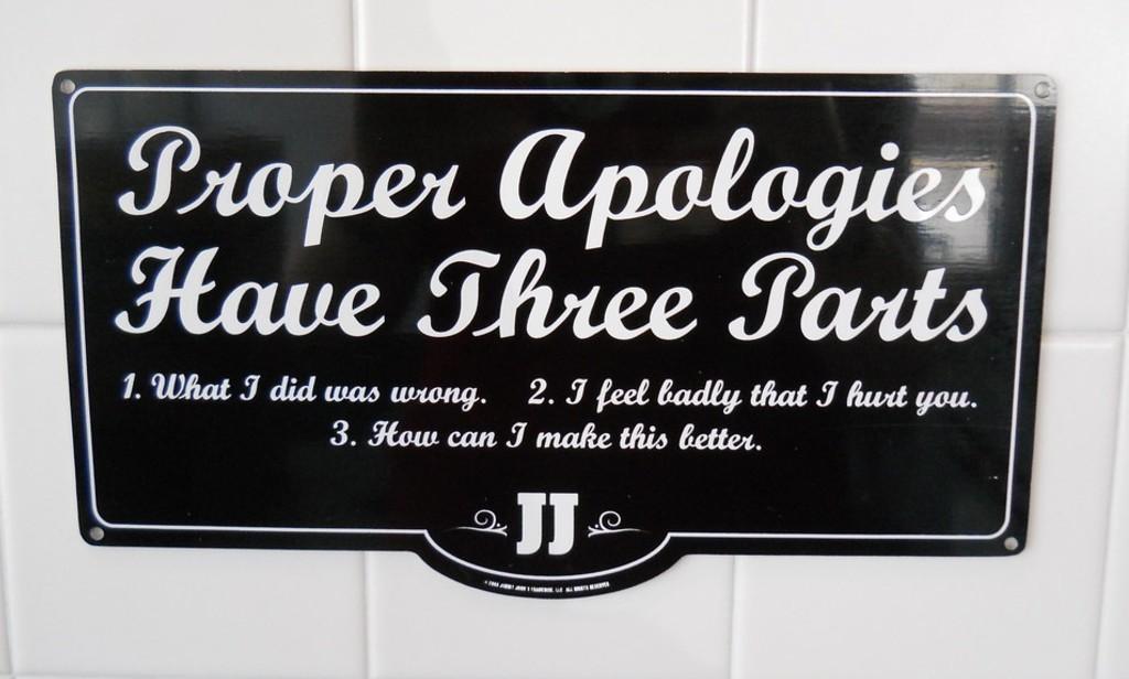 Apology Banner