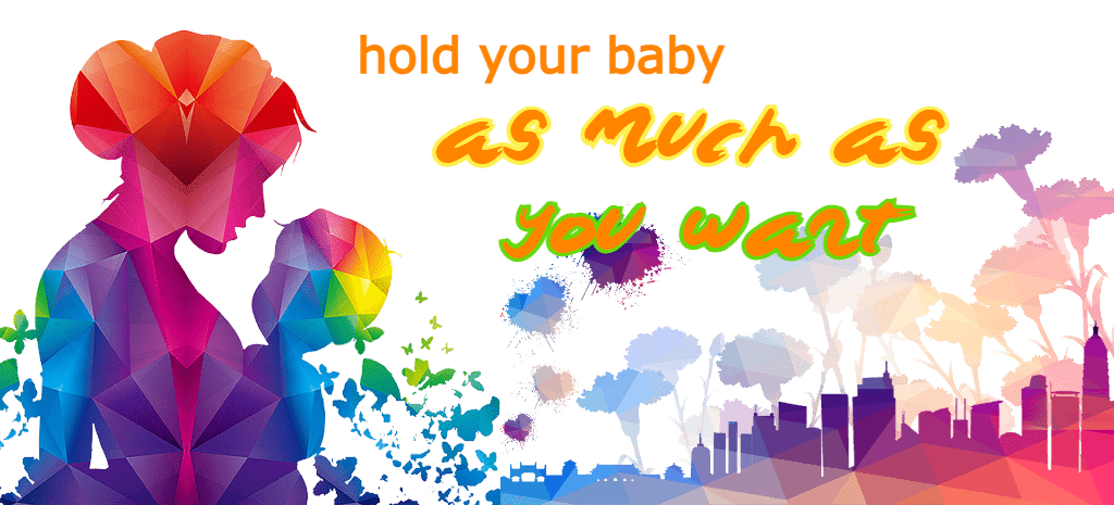Advice mother holding baby