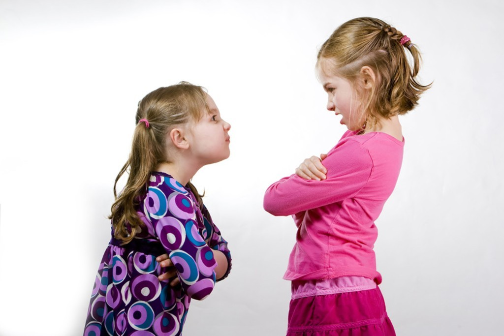 Two girls arguing