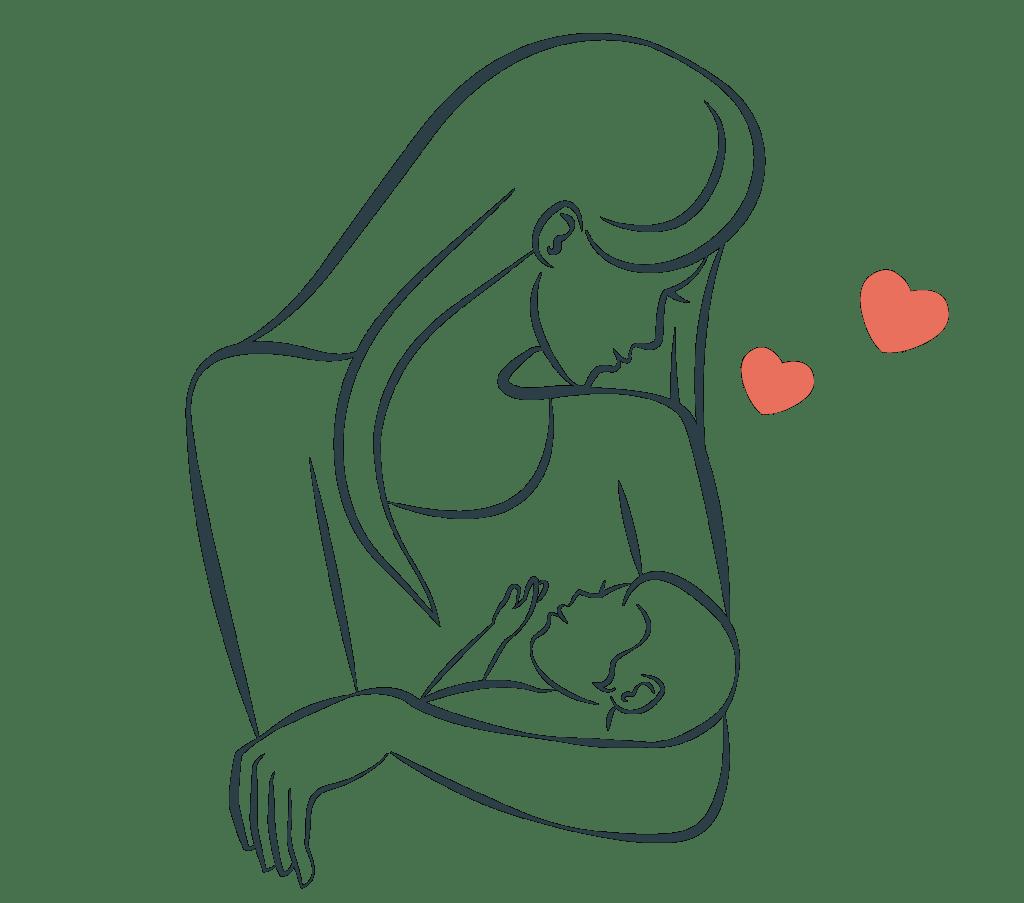 Mothers breast feeding