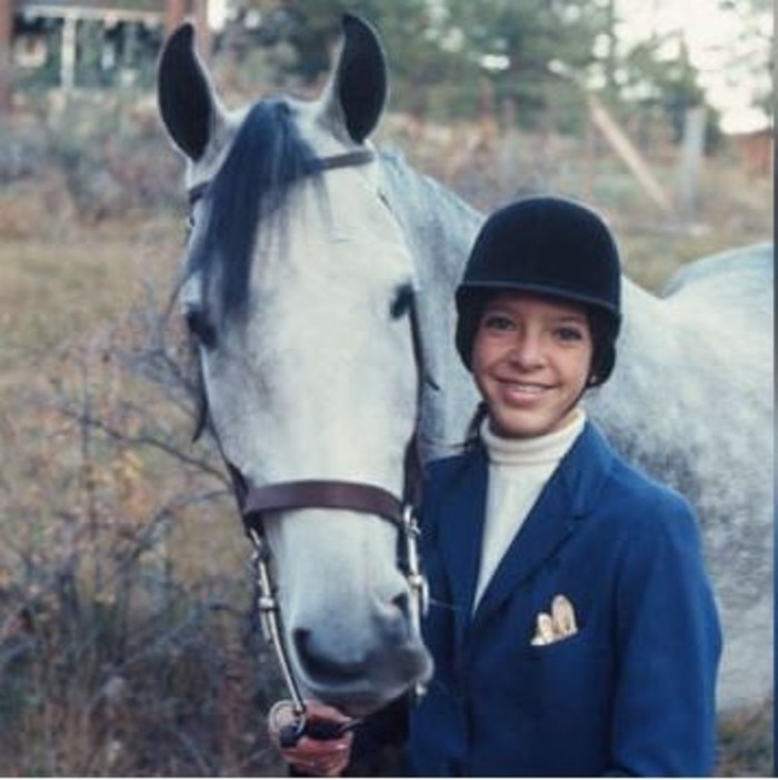 Virginia Rose and horse