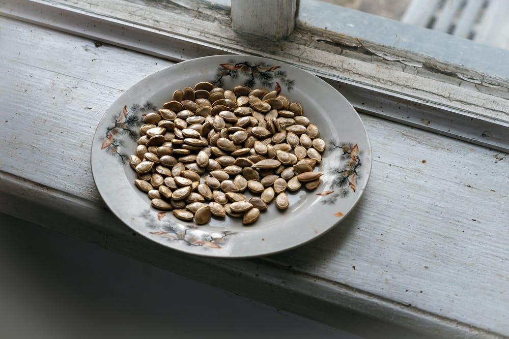 plate of roasted seeds