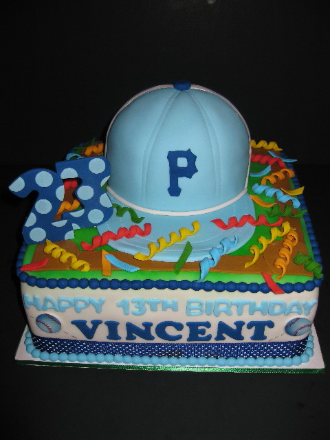 Vincent S Baseball Birthday Cake