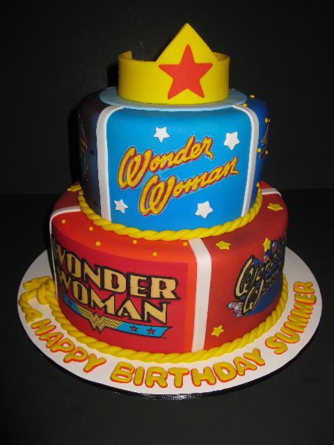 Summer S Wonder Woman Birthday Cake