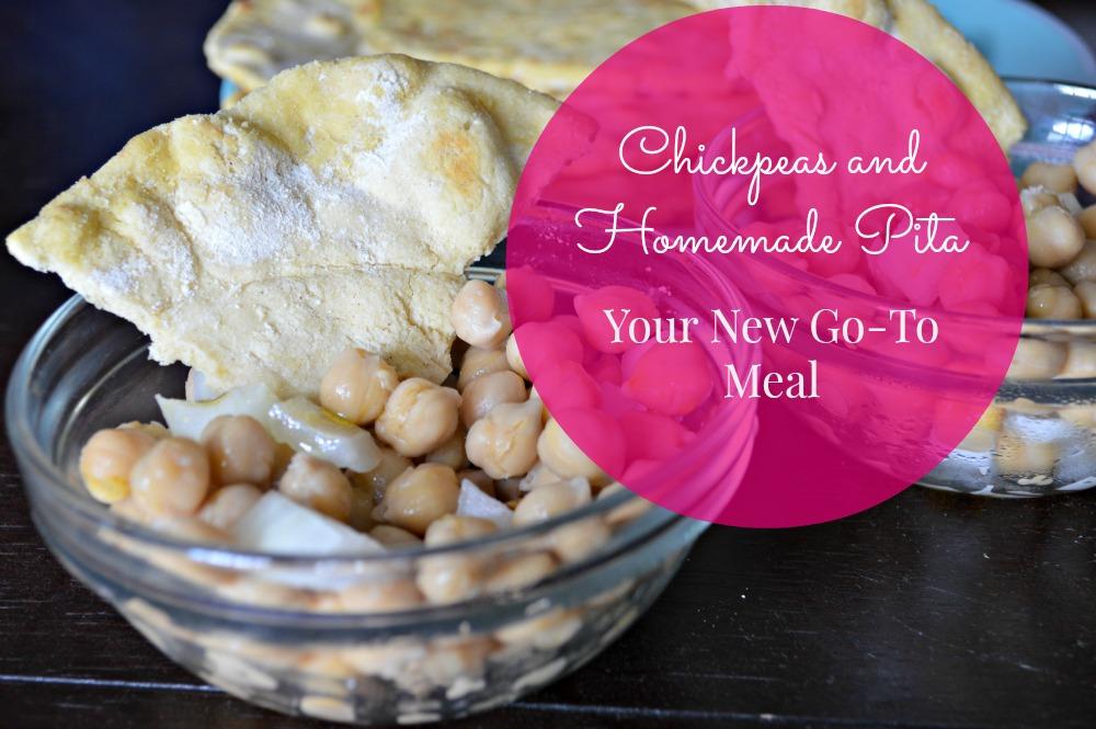 chickpeas and pita