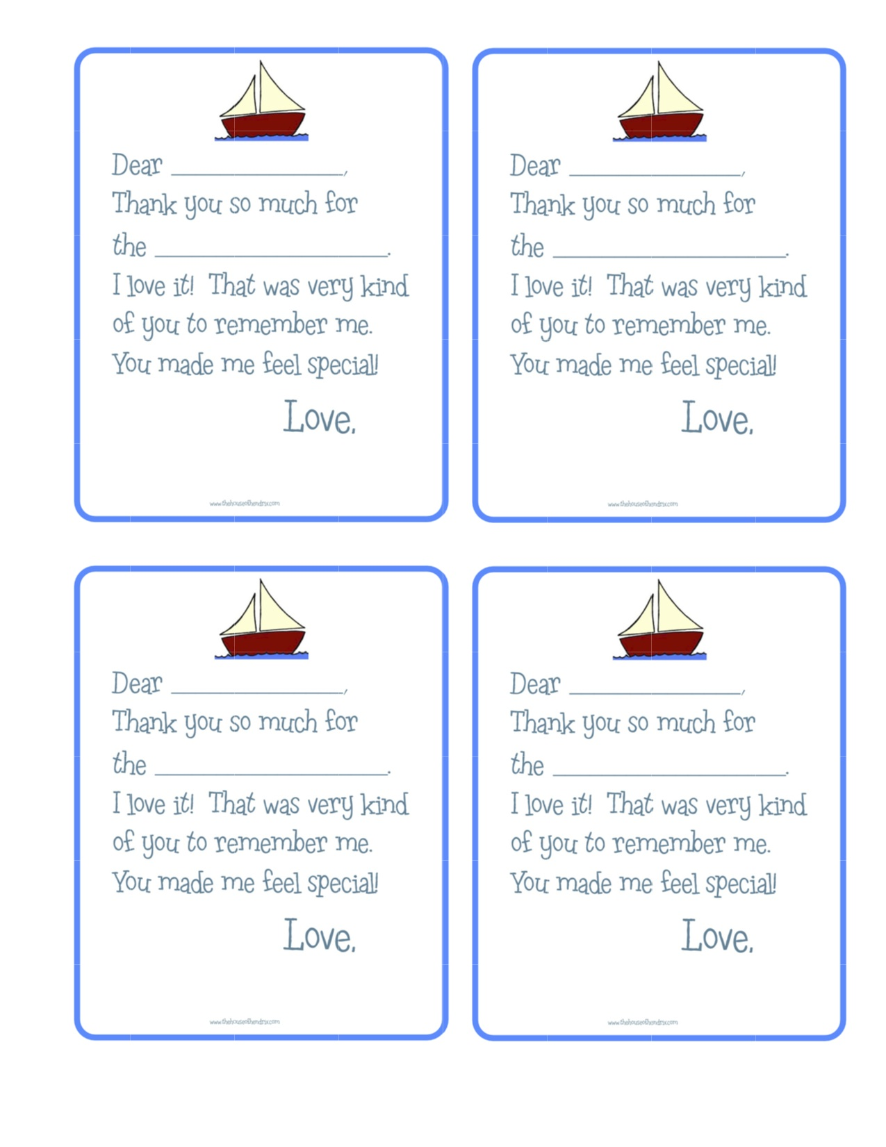 Modern Thank You Note Ideas