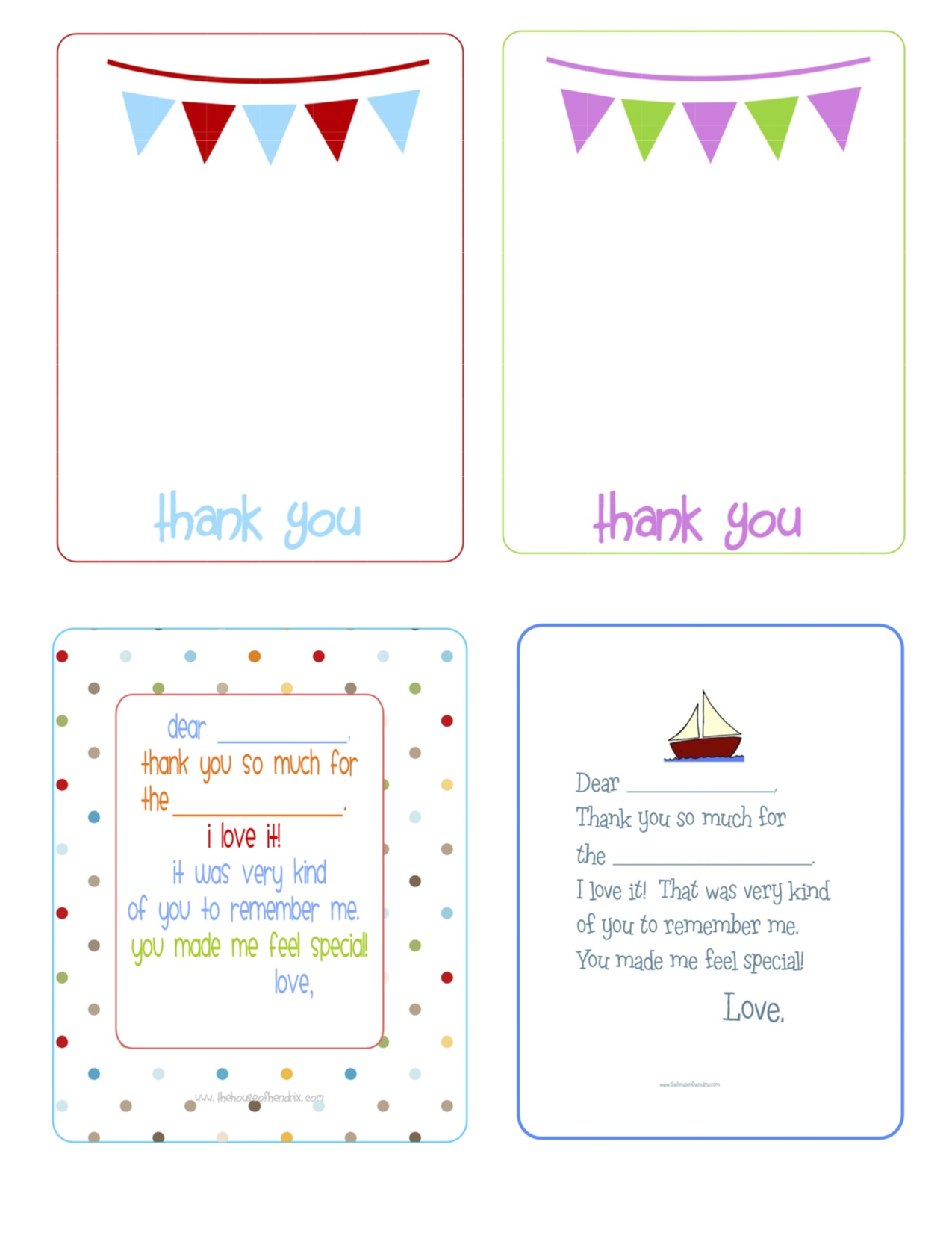 picture relating to Printable Thank You Cards for Students referred to as Printable Thank Oneself playing cards - The Place of Hendrix