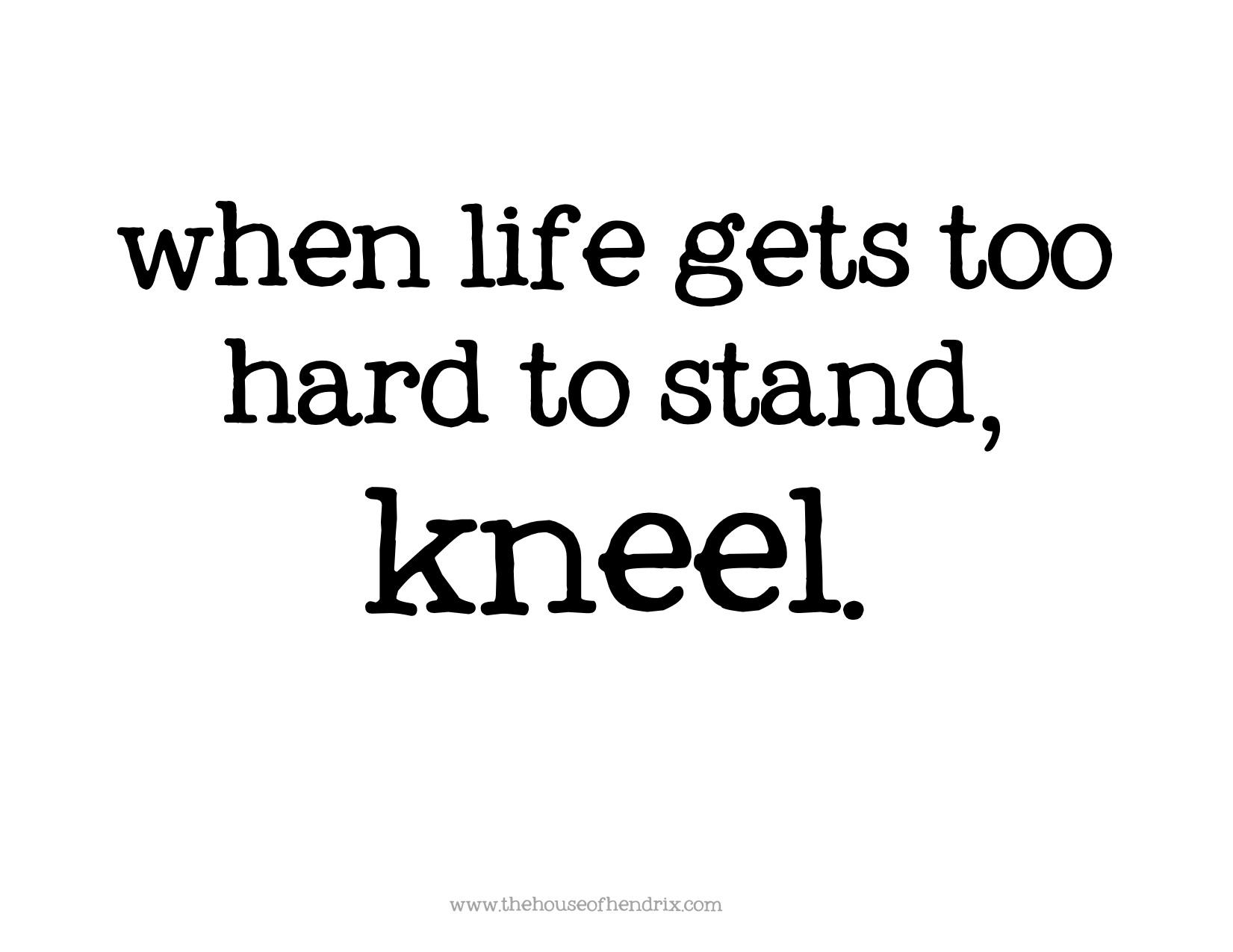 As I Kneel