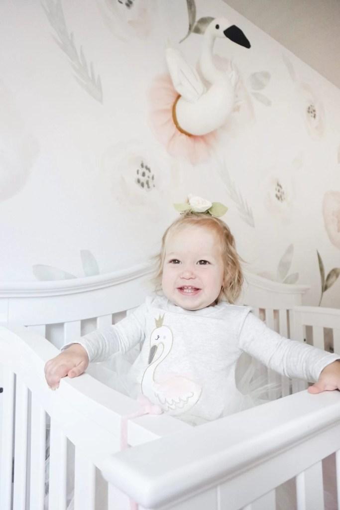 Vinyl Wall Paper, Shop B Darling, Girls Nursery, Toddler Room, Floral Wall Paper