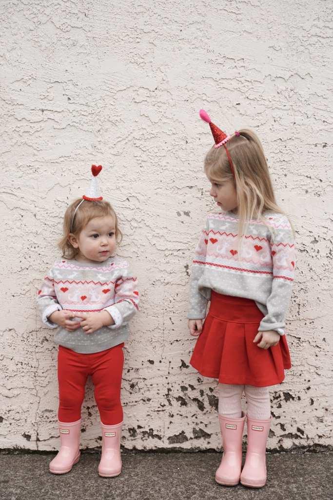 valentines day-toddler fashion-DIY-party hats-etsy-holiday-valentines cookies-DIY valentines-pajamas-baby pajamas-siblings