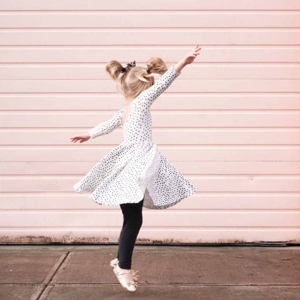 twirl dress-toddler style-toddler girl-alice and ames-pink wall