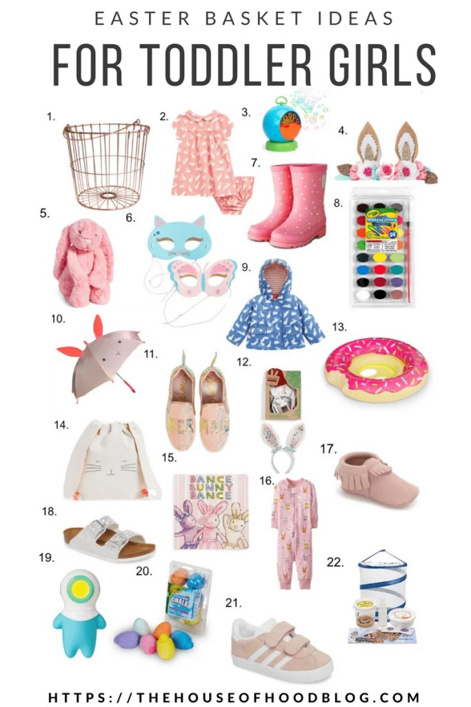 Easter Basket Ideas For Toddler Girls The House Of Hood Blog