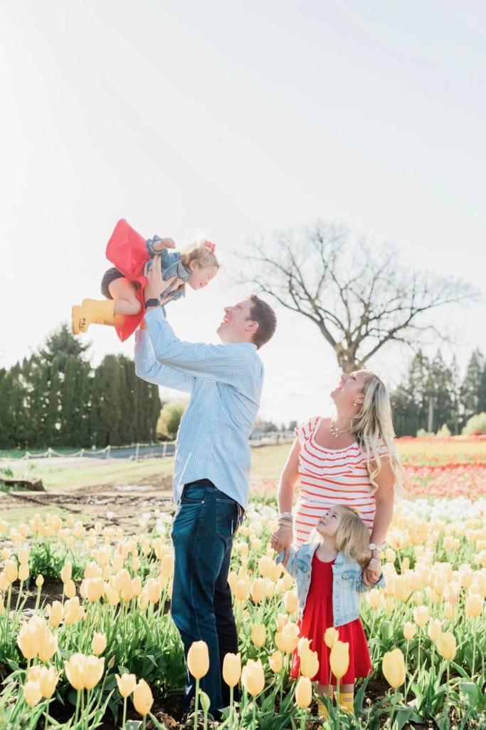 Family tulip field photos