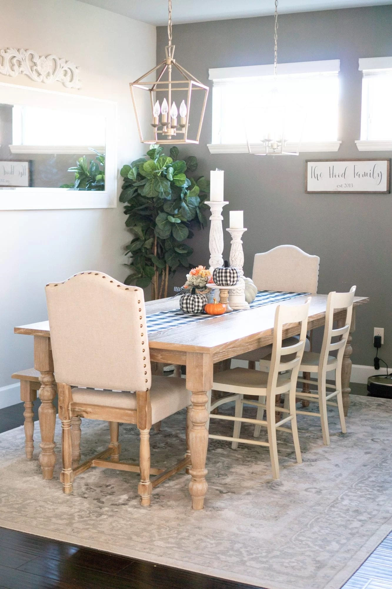 Our Fall Home Decor Tour! Simple Fall Home Decor Updates With Touches Of  Buffalo Plaid