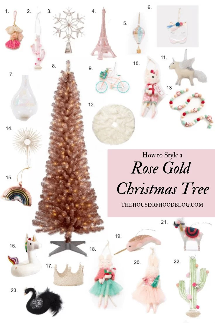 how to style a girly rose gold christmas tree the house of hood blog