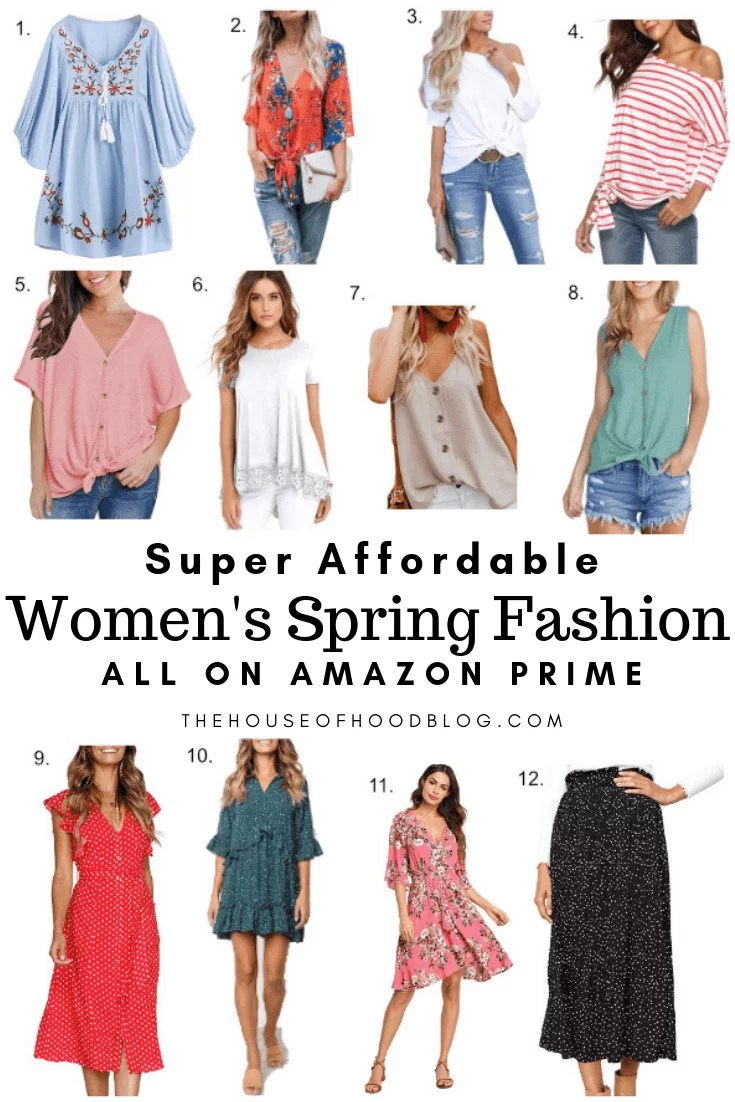 72704dbc9bbe Super Affordable Women's Spring Fashion Picks from Amazon Prime - The House  of Hood Blog