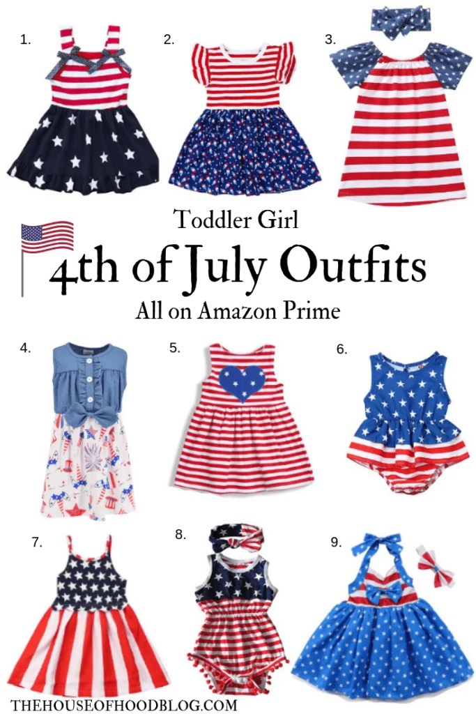 9d84260eb 4th of July Outfits for Toddler Girls on Amazon Prime - The House of ...
