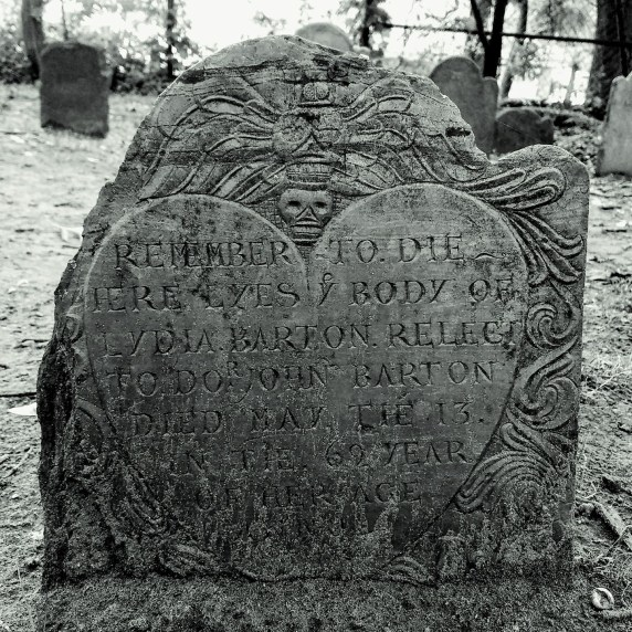 Salem MA Gravestone Heart deaths head