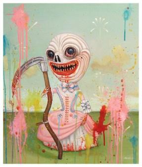 """Grim Reaper"" by Mia Makila. 2008 [acrylic on canvas]"