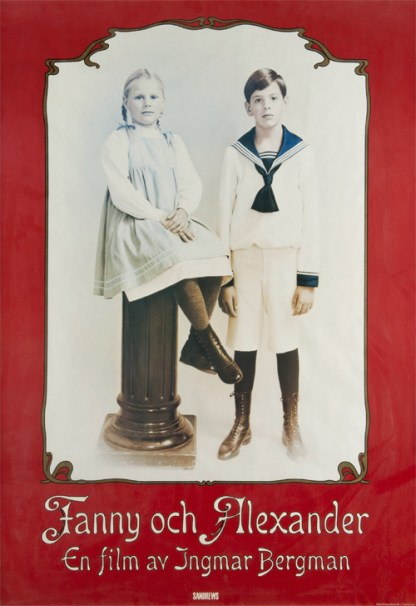 "The original poster for Ingmar Bergman's last feature film ""Fanny And Alexander"",1982 (I own one of these and keep it in my bedroom)"