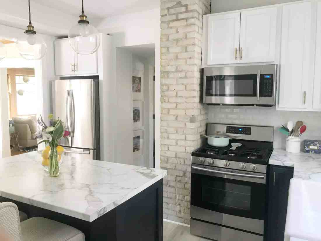 Before & After: Modern Navy and White Kitchen Ideas featured by top MI lifestyle blogger, House of Navy