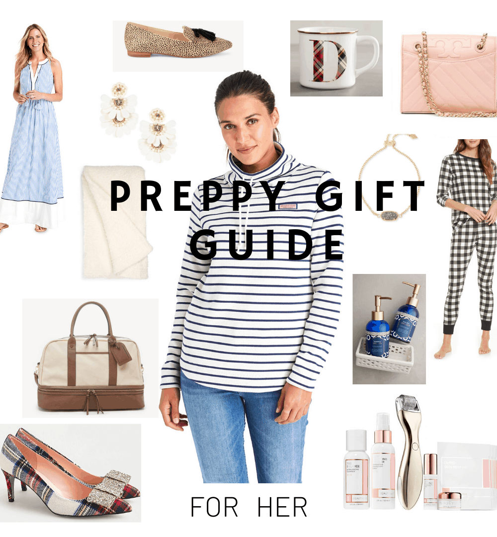 preppy gift guide collage