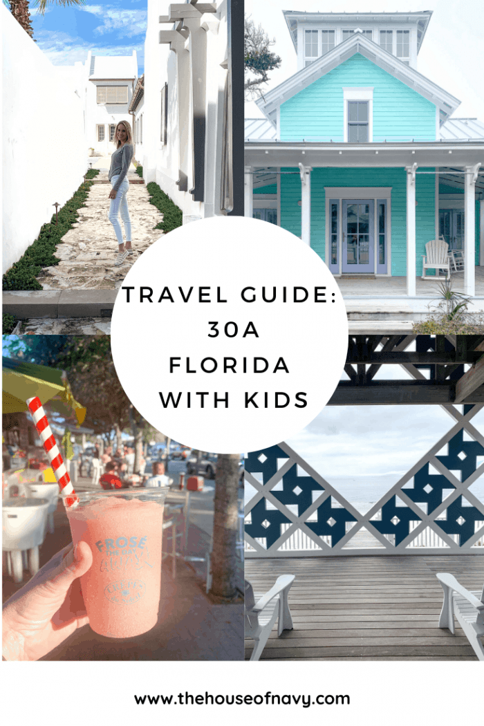 The Ultimate 30A Travel Guide for Families featured by top US travel blog, House of Navy: image of travel guide collage for florida