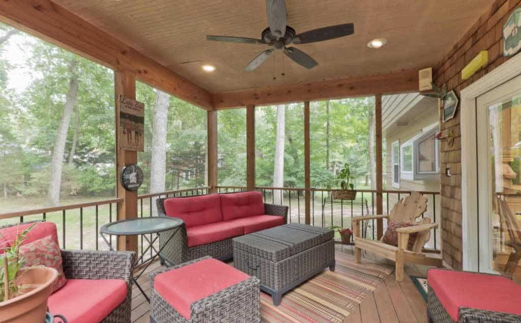 Home Buying with MSHDA info featured by top Michigan lifestyle blog, House of Navy: image of a screened in porch