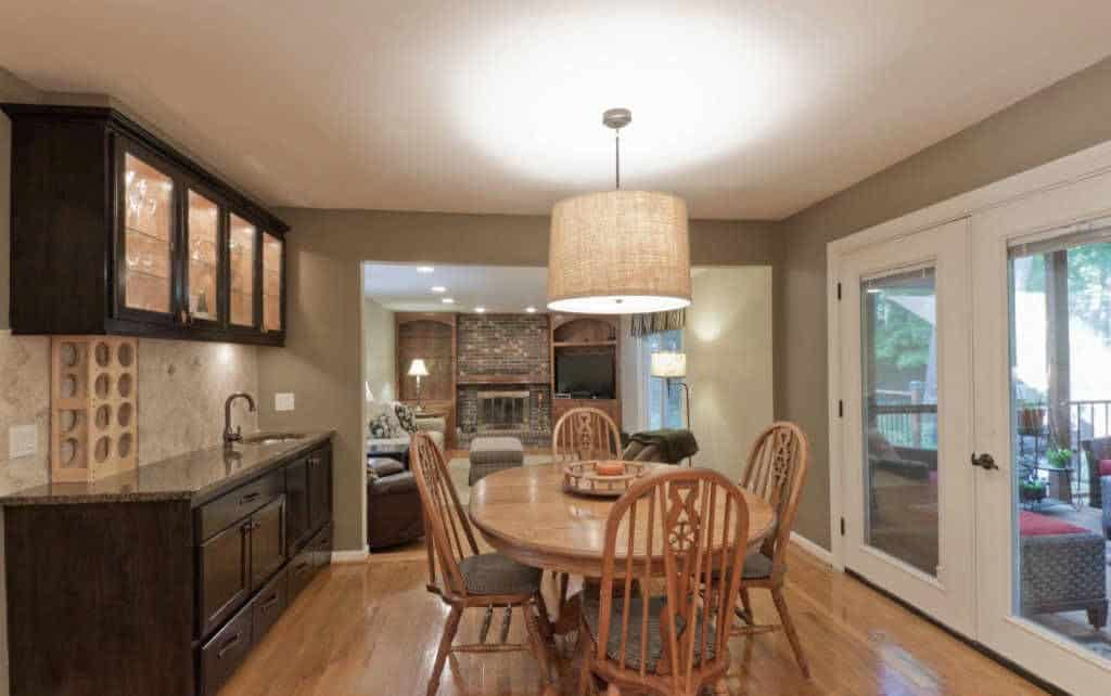 Home Buying with MSHDA info featured by top Michigan lifestyle blog, House of Navy: image of a kitchen and dining room