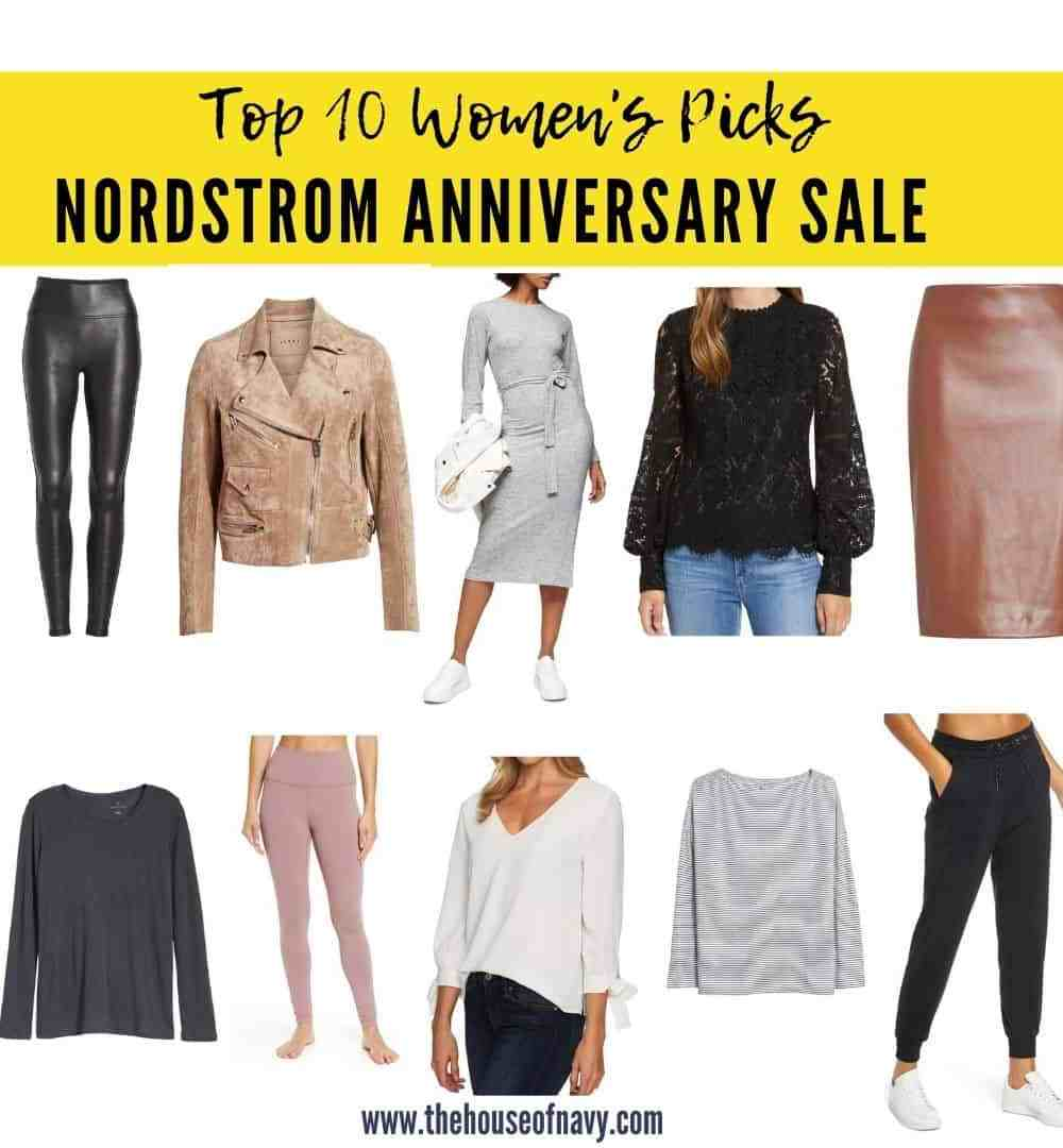 Nordstrom Anniversary Sale: Top 10 Women's Fashion Picks featured by top Detroit fashion blogger, House of Navy: collage of best sellers from nordstrom anniversary sale