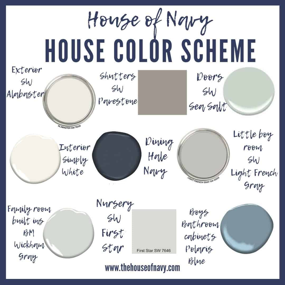 9 Stunning Coastal Paint Colors For Your Home featured by top MI lifestyle blogger, House of Navy