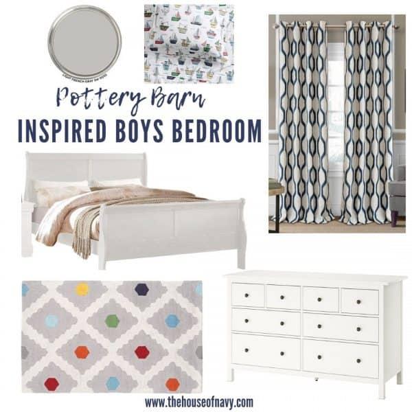 pottery barn boys bedroom cheaper than